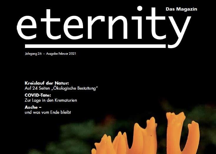 Das Eternity Magazin mit unserem Aschebeutel